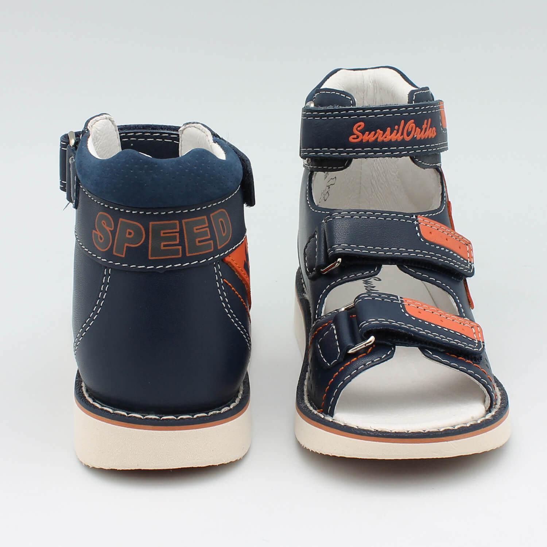 7d6b8c30d Детская ортопедическая обувь Сурсил 15-319S, синий/оранжевый, Sursil ...