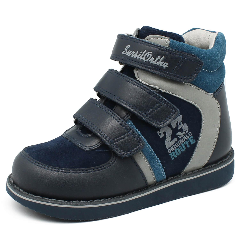 8470a728e Детская ортопедическая обувь Сурсил 23-251, синий/голубой, Sursil ...