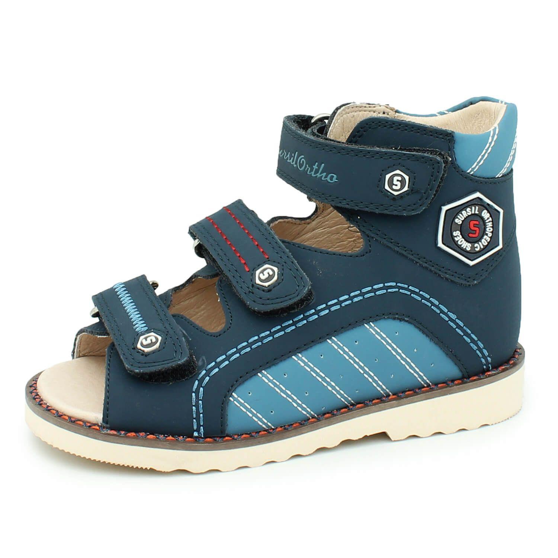 4115a5234 Детская ортопедическая обувь Сурсил 15-255М, синий, Sursil-Ortho ...