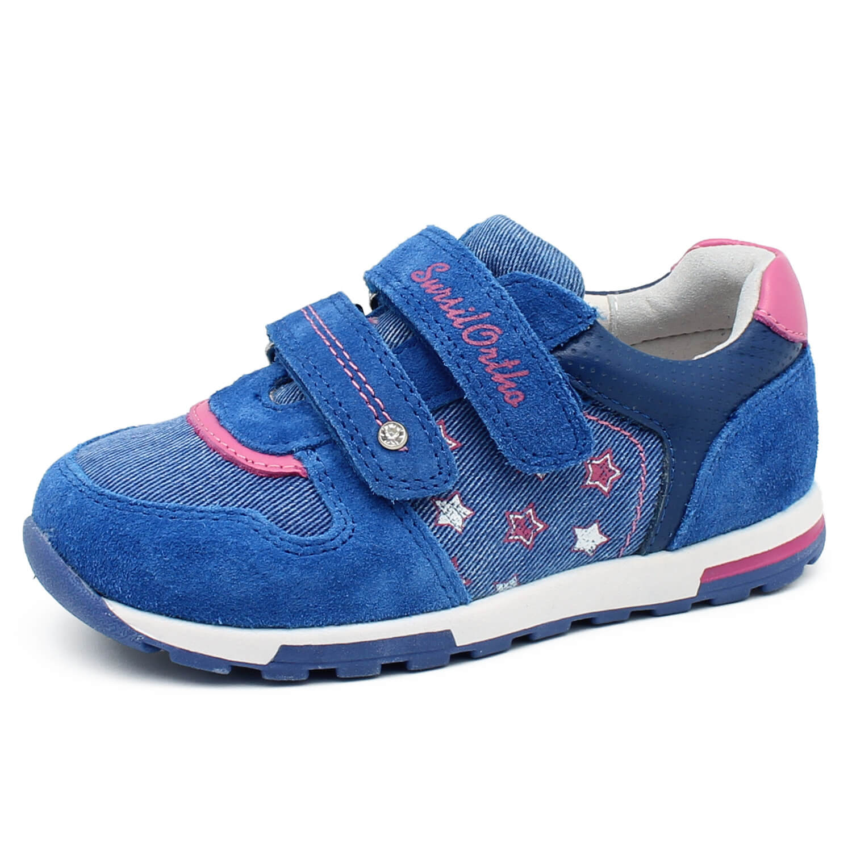 78fd30d3 Детские ортопедические кроссовки Сурсил 65-126, синий/розовый ...
