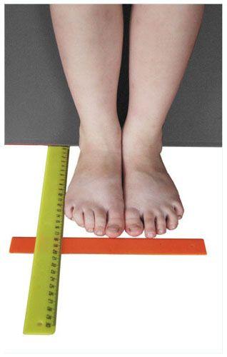 соответствия длины стопы и размерного ряда